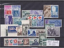 ITALIA REPUBBLICA 1951 ANNATA COMPLETA 29 VALORI NUOVI GOMMA INTEGRA SPLENDIDI