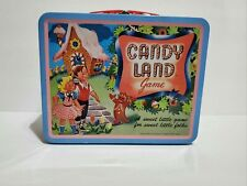 """Candyland Candy Land Board Game Tin Metal Lunchbox 1998 Hasbro 6"""" x 7.5"""""""