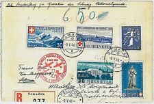 SWITZERLAND - Postal History - AVIATION - SPECIAL FLIGHT for RED CROSS 1940