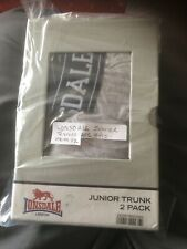Lonsdale 2 Pack Junior Trunks age 9 -10 years Underwear new in box item 12 mams
