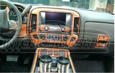 GMC SIERRA Z71 INTERIOR BURL WOOD DASH TRIM KIT SET 2014 2015 2016 2017 2018