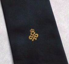 QUEEN'S AWARD EXPORT LOGO TIE VINTAGE RETRO 1970s 1980s CLUB ASSOCIATION NAVY