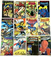 Marvel DC Comic Lot Superman Spider-Man Batman X-Men Captain America Ms Marvel