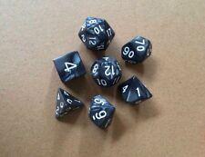 7 Stück Polyedrisch schwarz Dice Dungeons & Dragons Würfel Spielwürfel