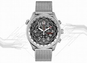 Citizen Eco-Drive Chronograph Silver-Tone Stainless Steel Men's Watch AT0361-81E