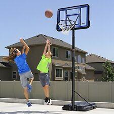 "Basketball Hoop Portable Backboard 42"" Acrylic Durable Adjustable Height 10 feet"