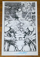 SUPERMAN COMIC BOOK ART PAGE SIGNED PRINT JOHN HEBERT 11x17 DC Comics