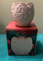 Lenox Merry Lights Votive Tea Light Candle Holder Snowman Christmas  ~ NEW!