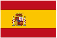 Spain bandiera - AUTO / Interno Finestra adesivo + 1 OMAGGIO - NUOVO - REGALO
