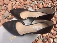 New IB Franco Sarto Felice d'Orsay Wedge Pump Sandals Heels Women's Sz 5
