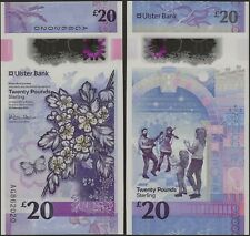 Northern Ireland 20 Pounds Ulster Bank UNC 2020 Polymer B941a @ EBANKNOTESHOP