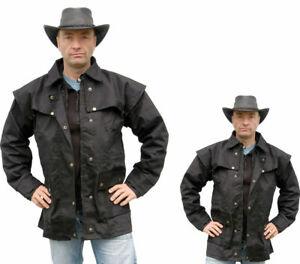 Regenfeste Westernjacke, Reitjacke, Regenjacke schwarz ungeölt Größe 4XL