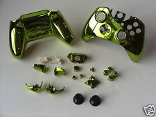 NEW 21p GREEN Gloss Chrome Xbox One Custom Full Controller Shell Replacement Kit