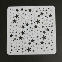 Star Theme Hollow Lace Ruler Embossing Template DIY Photo Album Draw Tool hv2n