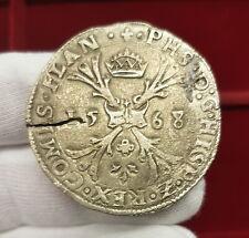 B-D-M Imperio Español Spanish Netherlands Felipe II - Ducaton 1568 Brujas