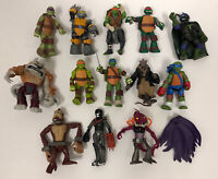 Lot of 13 TMNT TEENAGE MUTANT NINJA TURTLES Nickelodeon Action Figures!