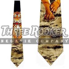 Tiger Tie Animal Necktie Mens Cat Tigers Wild Neck Ties Brand New