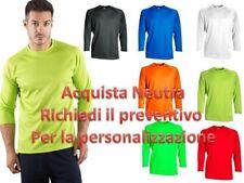 T-shirt Maglietta Uomo manica lunga Sportiva in Poliestere Sprintex Palestra