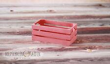 2 Rosa Holzkisten Weinkiste Obstkiste Kiste aus Holz Aufbewahrung