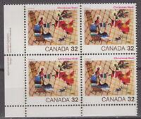 CANADA #1040 32¢ Christmas LL Inscription Block MNH