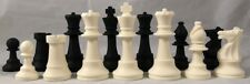 """Silicone Club Chess Set - Full Size 3 3/4"""" King"""