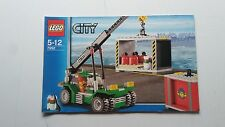 LEGO CITY !! INSTRUCTIONS ONLY !! FOR 7992 CONTAINER STACKER