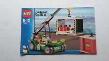 LEGO CITY!!! Istruzioni solo!!! PER 7992 confezione Stacker