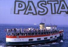 Original slide ocean liner ship New York Harbor Cicle Line ferry Liberty