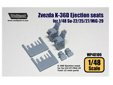 Wolfpack Design 1/48 WP48106 K-36D Ejection seats for Su-17/22/25/27/ MiG-29