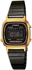 CASIO Damenuhr Digitaluhr schwarz goldfarben in Retro Optik