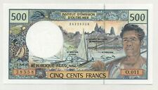 French Pacific Terr. 500 Francs ND 1992 Pick 1.b UNC Uncirculated Banknote Ref 1