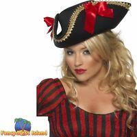 Fever Pirate Hat Pirate Buccaneer Women's Fancy Dress Costume