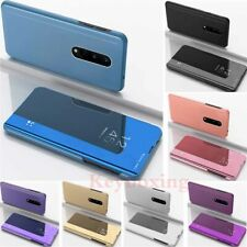 For OnePlus 8 7T 7 Pro 6T 6 Smart View Slim Mirror Leather Stand Flip Case Cover