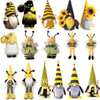Bumble Bee Striped Gnome Scandinavian Tomte Nisse Swedish Honey Bee Decor Gift