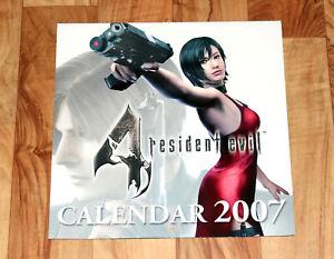 2007 Resident Evil 4 Capcom German Very Rare Calendar GameCube Ada Wong