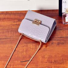 Damen Clutch Kleine Handtasche Messenger Umhängetasche mit Metallkette