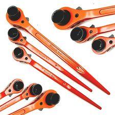 Hi Viz Ratchet Podger Spanner Set 10x13 13x17 17x19mm 3pc Tool Wrench Set Cr-v
