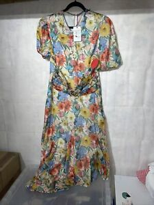 Hope And Ivy Liberty Fabric Melody Button Front Dress. New Tagged Size 16
