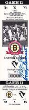 Milt Schmidt Woody Dumart Boston Bruins Autographed 1994 Full Ticket W/COA
