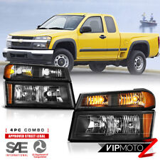 2004-2012 Chevy Colorado GMC Canyon [HARLEY BLACK] Bumper Corner Head Light Lamp