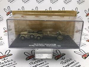 "Die Cast "" KFZ.15 Horch + 4 1/8in The FH18M (USSR) - 1943 "" Scale 1/72"