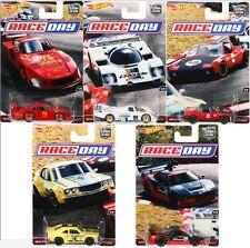 "HOT WHEELS 1/64 CAR CULTURE RACE DAYS CASE ""J"" ASSORTMENT SET OF 5 DJF77-956J"