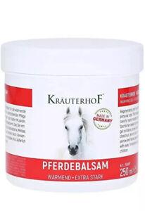 KRAUTERHOF PFERDEBALSAM-Horse Gel- 250 Ml - EXTRA STRONG WARMING GEL- New