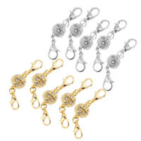 10Pcs Gold Silver Magnetic Bracelet Necklace with Lobster Clasp DIY Jewelry
