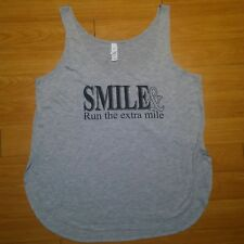 """""""Smile & Run The Extra Mile"""" Women's Small Nwt, Active Wear Bella Tank Top"""