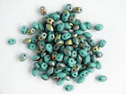 Twin Hole Matte Turquoise Green Vitrail Seed bead, 10g (Duo)