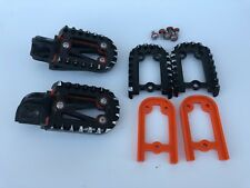 Fast Co Impact Moto Peg KTM 1998 - 2015 Black / Orange Footpegs Foot Peg KTM