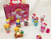 Hello Kitty Metal Lunch Box Embossed 2013 Sanrio Tin Box Co + 40 Accessories