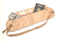Hidden Money Belt Passport Documents ID Waist Belt Secret Secure Travel Wallet