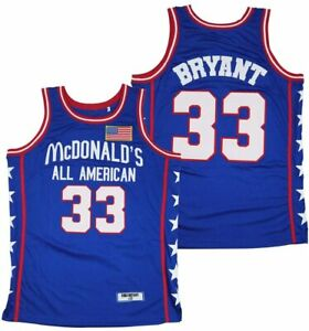 Men's 33 McDonald's All American Kobe Bryant Basketball Jersey Stitched S-3XL